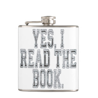 Yes I Read the Book Grey Hip Flask