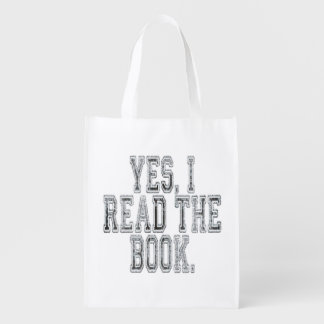 Yes I Read the Book Grey Reusable Grocery Bag