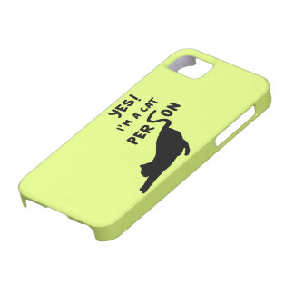 Yes! Im a cat person iPhone 5 Cover