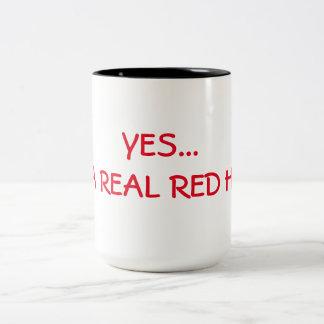 YES... I'M A REAL RED HEAD Two-Tone COFFEE MUG