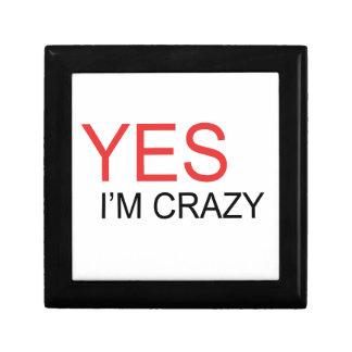 YES I'm Crazy Gift Box