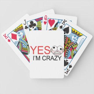 YES I'm Crazy Poker Deck