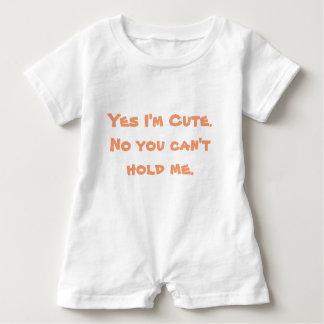 Yes I'm Cute Baby Romper