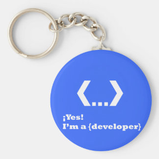 YES! ….I'm to {Developer} (Key ring) Keychain