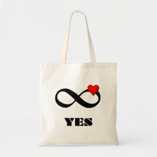 YES INFINITY LOVE TOTE BAG