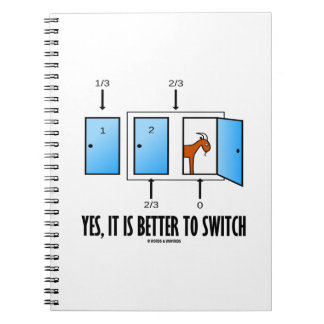 Yes, It Is Better To Switch (Three Doors One Goat) Notebook