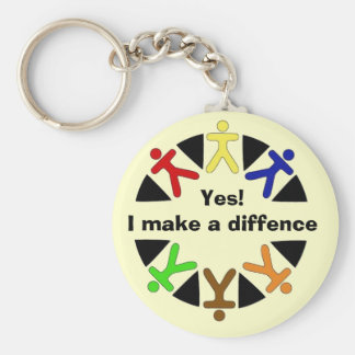 yes logo, Yes!I make a diffence Keychain