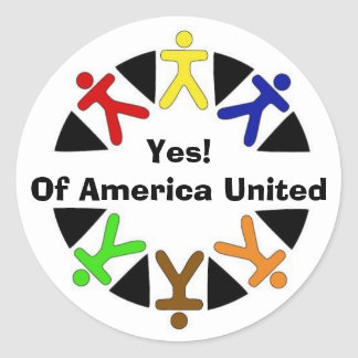 yes logo, Yes!Of America United Classic Round Sticker