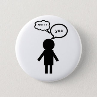 Yes Means No Button