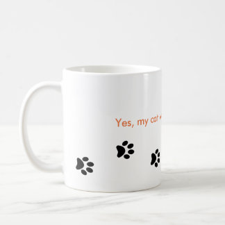 Yes My Cat Walks All Over Me Paw Prints Mug