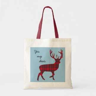 Yes My Dear Scottish Independence Tartan Tote Bag