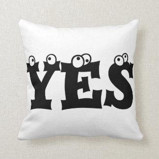 YES NO Throw Pillow Pillows