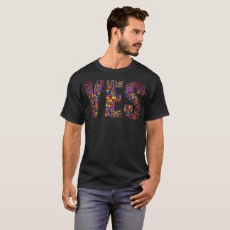 """""""Yes No! V.2"""" Typography T-Shirt"""