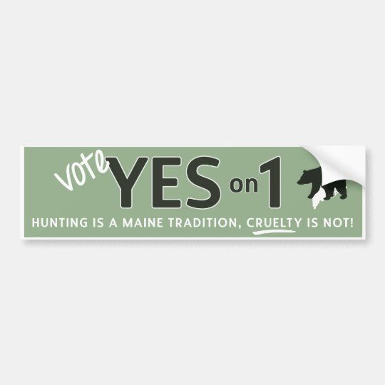 Yes on 1! Bumper Sticker