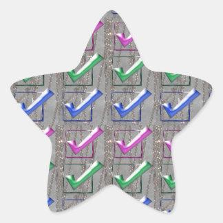 YES positive STROKES pattern NVN173 NavinJOSHI FUN Star Sticker