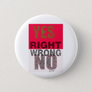 YES right 2 Inch Round Button