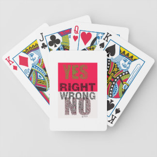 YES right Bicycle Playing Cards
