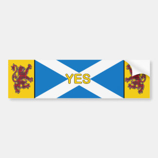 Yes Scotland Flag and Rampant Lion Bumper Sticker
