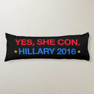 yes,she con. hillary 2016 body pillow