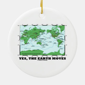 Yes The Earth Moves (Plate Tectonics Earthquakes) Ceramic Ornament