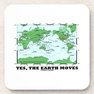 Yes The Earth Moves (Plate Tectonics Earthquakes) Drink Coasters