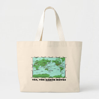 Yes The Earth Moves (Plate Tectonics Earthquakes) Large Tote Bag