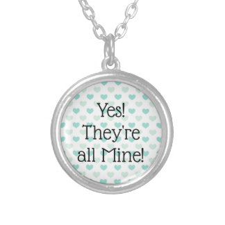 Yes, They are ALL mine! Large Family Silver Plated Necklace