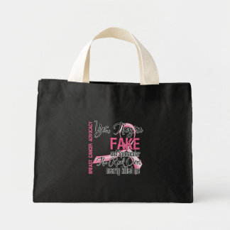 Yes They Are Fake and Spectacular - Breast Cancer Mini Tote Bag