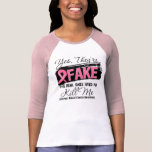 Yes Theyre Fake Real Ones (grunge) Breast Cancer Shirts