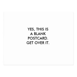 YES, THIS IS A BLANK POSTCARD.GET OVER IT. POSTCARD