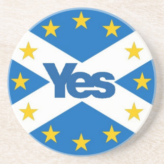 Yes to Independent European Scotland Beverage Coaster
