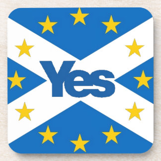 Yes to Independent European Scotland Drink Coaster