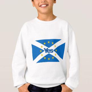 Yes to Independent European Scotland Sweatshirt