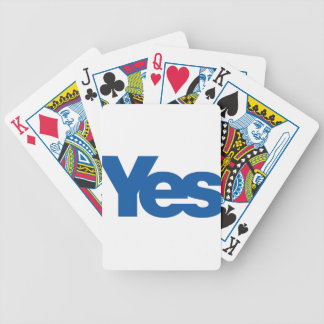 Yes to Independent Scotland Poker Deck