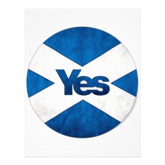 Yes to Independent Scotland 'Saor Alba Go Bragh' Customized Letterhead