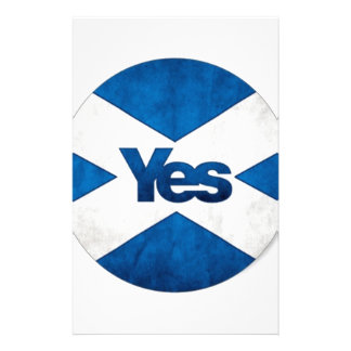 Yes to Independent Scotland 'Saor Alba Go Bragh' Customized Stationery