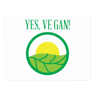 Yes VeGan! Postcard