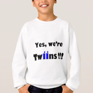 yes we are twins blue-blue sweatshirt