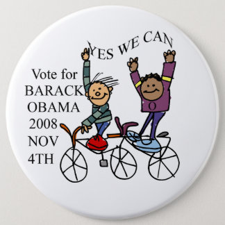 YES WE CAN 6 INCH ROUND BUTTON