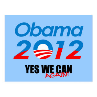 YES WE CAN AGAIN POST CARD