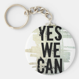 YES WE CAN bckgrnd concrt keych Keychain