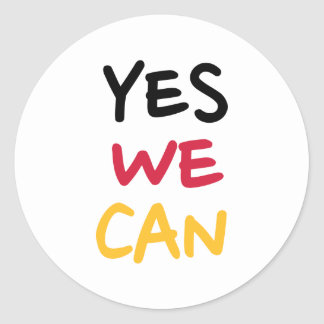 Yes we can classic round sticker