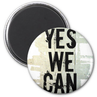 YES WE CAN concrt bckgrnd magnet