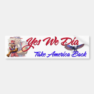 Yes We Can Did, Take America Back, Barack Obama Bumper Sticker