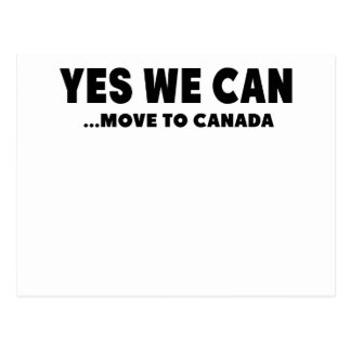 YES WE CAN MOVE TO CANADA POSTCARD