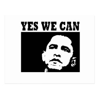 Yes we can Obama 2008 Postcard