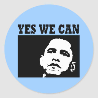 Yes we can Obama 2008 Sticer Stickers