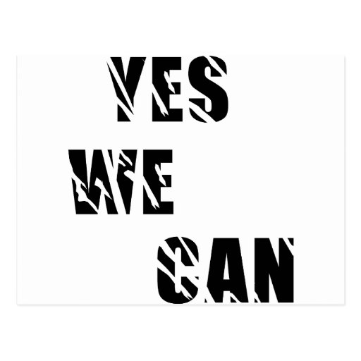 Yes We Can Obama Barack El Presidente Postcard