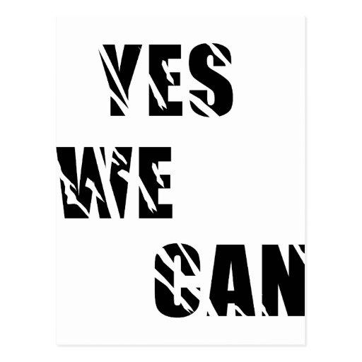 Yes We Can Obama Barack El Presidente Postcards