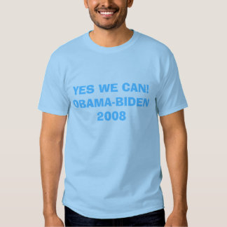 YES WE CAN!OBAMA-BIDEN 2008 T SHIRTS